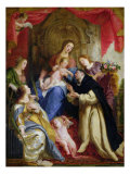 The Virgin Offering the Rosary to St Dominic  1641