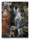 The Purification of the Leper and the Temptation of Christ  in the Sistine Chapel: Detail of Woman