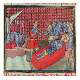Saint Louis Dies of Plague During Crusade Against Tunis  from 'Grands Chroniques De France'
