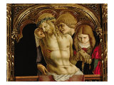 Lamentation of the Dead Christ  Detail from the Sant'Emidio Polyptych  1473