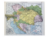Map of the Austro-Hungarian Empire  Illustration from a French geography School Textbook  1905