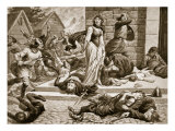 The Massacre of St Brice's Day  1002  Illustration from 'Hutchinson's Story of British Nation'