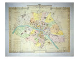 Map of Paris in 1789  1887