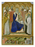 The Carmine Altarpiece  central panel depicting the Virgin and Child with angels  St Nicholas and