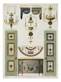 Designs for Curtain Cornices  Girandoles and Folding Doors  1774