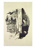 Illustration for 'The Raven'  by Edgar Allen Poe  1875