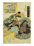 Egawa from Maruebiya House  illustration 'The Courtesans personifying the eight views of Japan'
