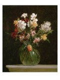 Narcisses Blancs  Jacinthes et Tulipes  1864