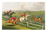 Fox Hunting  aquatinted by I Clark  pub by Thomas McLean  1820