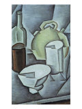 Still Life with a Bottle of Wine and an Earthenware Water Jug  1911