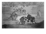 Pepe Hillo Making the Pass of the 'Recorte'  Plate 29 of 'The Art of Bullfighting'  pub 1816