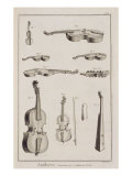 Instruments Played with a Bow  from the Encyclopedia of Denis Diderot