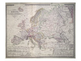 Map of Europe  1841