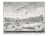 Westminster Bridge - Boats Arriving at Parliament for the Swearing in of Sir John Barnard