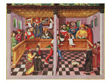 Tribunal of the Scientists  from 'De Sphaera'  c1470