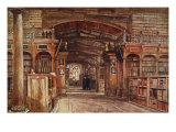 Interior of the Bodleian Library  1903