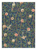 'Bird and Pomegranate' Wallpaper Design  printed by John Henry Dearle