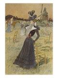 Fashion Plate  at Longchamp  Illustration from 'La Nouvelle Mode'  1897