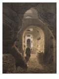 Catacombs of San Calixto in Rome  Illustration from the Album 'Rome Dans Sa Grandeur'  1870