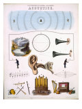 Acoustics  illustrations of Natural Philosophy  published in 'Popular Diagrams' by James Reynolds