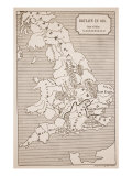 Map of Britain in 658  Produced by Stanford&#39;s Geographical Establishment