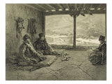 Sharia Lecture at Khosrakh  Dagestan  engraved by Adolphe Mouilleron