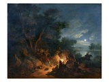 Attack by Robbers at Night  c1770