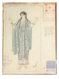 Lady-in-waiting  Costume Design for 'Hippolytus' by Euripides