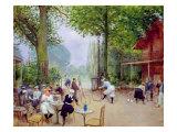 The Chalet du Cycle in the Bois de Boulogne  c1900