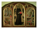 The Blessed Agostino Novello Altarpiece  with four of his miracles  c1328