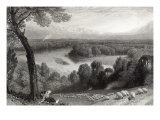 The Thames from Richmond Hill  engraved by J Saddler  printed by Cassell  Petter and Galvin