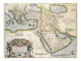 Map of the Middle East  from Theatrvm Orbis Terrarvm  1570