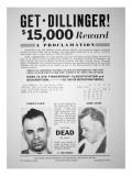 Reward Poster for John Dillinger  1933
