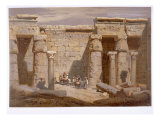 Temple of van Medinet  Thebes  1874