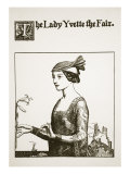 The Lady Yvette the Fair  Illustration from 'The Story of the Champions of the Round Table'