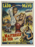 The Iron Mistress  Belgian Movie Poster  1952