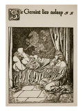 Sir Geraint Lies Asleep  Illustration from 'The Story of Grail and the Passing of Arthur'  C1910