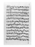 Copy of 'Partita in D Minor for Violin' by Johann Sebastian Bach