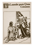 Sir Launcelot Greets Queen Guinevere  Illustration from &#39;The Story of Champions of Round Table&#39;