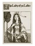 The Lady of Ye Lake  Illustration from 'The Story of King Arthur and His Knights'  1903