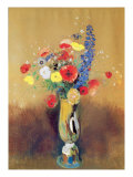 Wild Flowers in a Long-necked Vase  c1912
