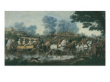 Hunt Meeting  engraved by Philibert Louis Debucourt