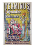 Poster advertising 'Terminus' absinthe  starring Sarah Bernhardt and Constant Coquelin