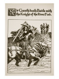 Sir Gareth Doeth Battle with Knight  Illustration  ''The Story of Sir Launcelot and His Companions'