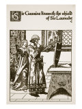 Sir Gawaine Knoweth the Shield of Sir Launcelot  Illustration from 'The Story of Sir Launcelot and