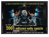 2001: A Space Odyssey  Italian Movie Poster  1968