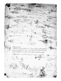 Sheet of Studies of Foot Soldiers and Horsemen in Combat  and Halbards  1485-1488