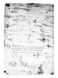 Sheet of Studies of Foot Soldiers and Horsemen in Combat  and Halbards  1485-1488