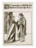Sir Launcelot  Elaine the Fair  Illustration 'The Story of Sir Launcelot and His Companions'