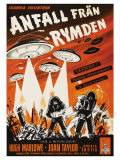 Earth vs the Flying Saucers  Swedish Movie Poster  1956